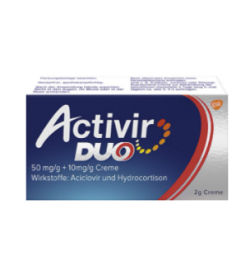 ACTIVIR DUO CR 50+10MG/G