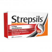 Strepsils Lutschtabletten Orange Zuckerfrei